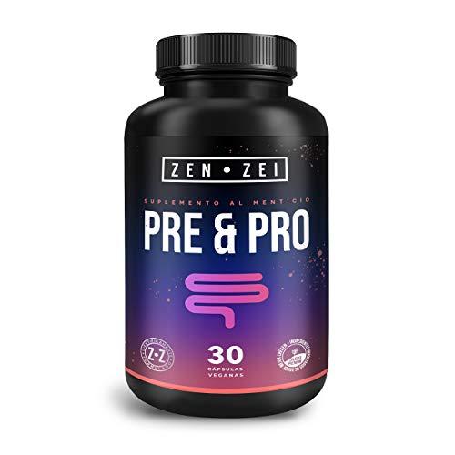 ZEN•ZEI | PRE & PRO BIOTIC - Prebiótico y Probiótico = Simbiótico — 25 Billones de UFC's Vivos — Formulado para: Balancear, Mejorar y Nutrir el Sistema Inmune, Digestivo y Estomacal | Calidad Premium
