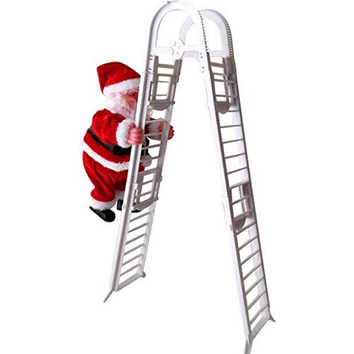 AmaMary Navidad escalando Santa, Escalera Eléctrica Papá Noel Regalos de Adornos de estatuillas de Navidad