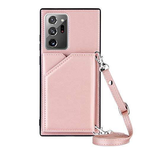Lanyard - Funda para Samsung Galaxy Note 20 Ultra (oro rosa)