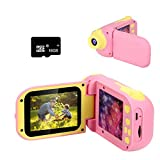 Cocopa Kids Camera Kids Camera for Boys Digital Cameras for Kids Camera Video Camera Gifts for Toddlers Toys for Boys Girls Age 3 4 5 6 7 8 9 Years Old Pink 16GB