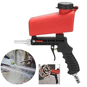 Pistola de chorro de arena neumática Pistola de chorro de arena de aire abrasivo Máquina de chorro de chorro de arena profesional Kit de chorro de medios de alimentación por gravedad de mano