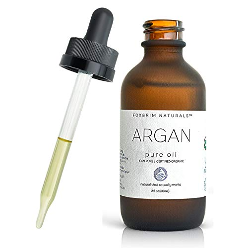 Organic Argan Oil for Hair, Face, Skin & Nails - Extra Virgin - 100% Pure Moroccan Oil - USDA...