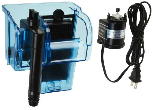 Penn-Plax Cascade Hang-on Aquarium Power Filter for 10 Gallon Aquaria, 80 GPH Flow Rate