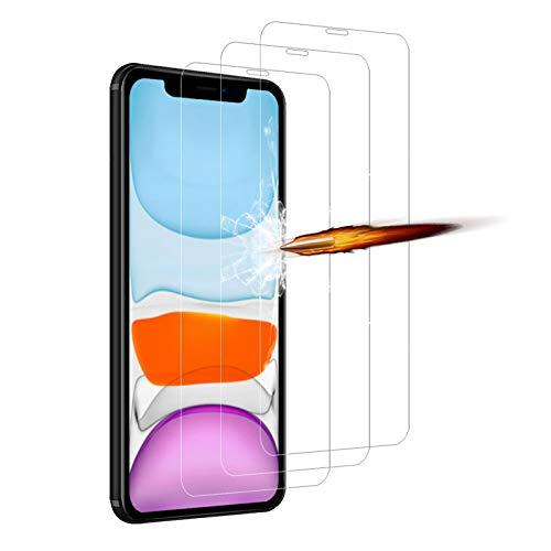 ANKENGS [3 Stück Schutzfolie Kompatibel mit iPhone 11, [6,1 Zoll] Panzerglasfolie [9H Härte] [Kratzfest] [Anti-Schaum] [Anti-Öl], Kompatibel mit iPhone 11/ XR Displayschutzfolie