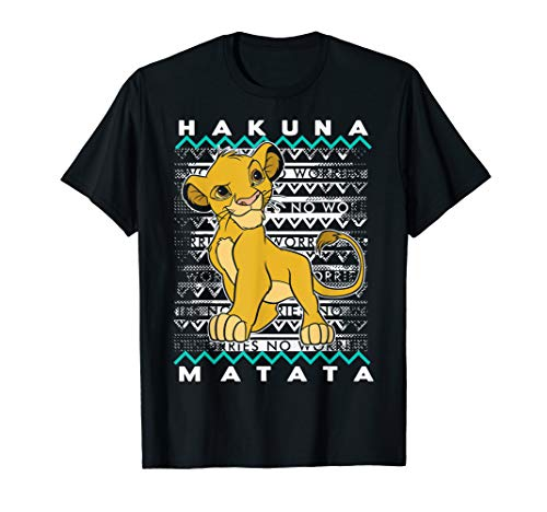 Disney Lion King Hakuna Matata Simba Artsy Background T-Shirt