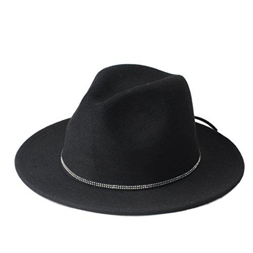 JDON-HAT dames/heren wollen hoed Fedora Fashion dames glanzende hoofdband dames hoed vrouwelijk hoed fedora met Brim Wide Jazz cap kerken panama Top Sun