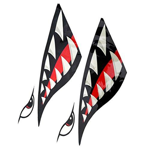 2 Pcs de Pegatinas en Forma de Dientes Suministros de Deportes de Barco kayak Accesorio de Deportes