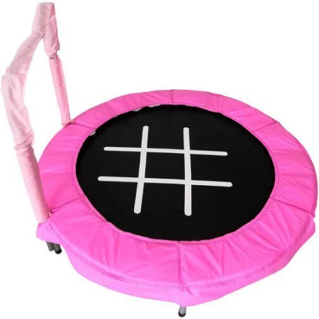 Trampoline 4' Bouncer for Kids by Jumpking (Pink/Chalk)
