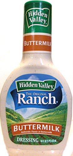 Hidden Valley Buttermilk Dressing (Pack of 3) 16 oz Bottles