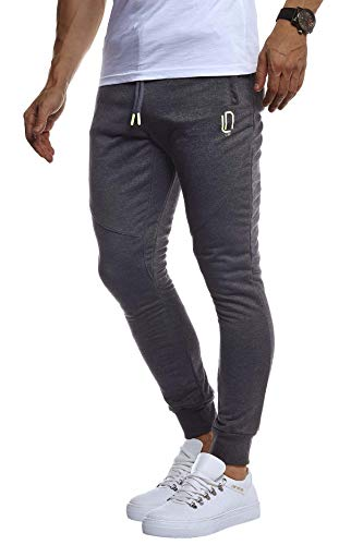 Leif Nelson heren trainingsbroek sportbroek slim fit mannen fitnessbroek joggingbroek lange fitnessbroek voor sport training bodybuilding jongens sweatpants jogging LN8298