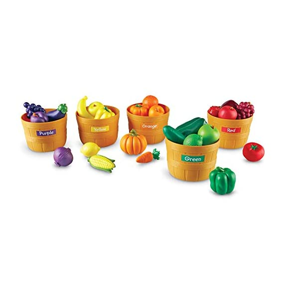 Learning-Resources-Farmers-Market-Color-Sorting-Set-Homeschool-Play-Food-Fruits-and-Vegetables-Toy-30-Piece-Set-Ages-3