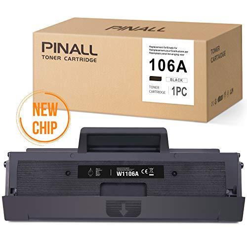 Cool Toner 106A Compatible Toner Cartridge Replacement for HP 106A W1106A for HP Laser MFP 107w 107a 135a 135wg 135w 137fnw 135ag 107r 137fwg 1 Pack With Chip HP Laser 107 135 137 Black