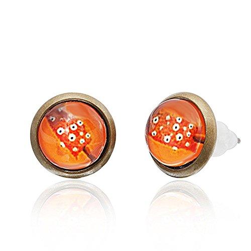 Chic-Net Brass oorstekers snoepgoed ijs snoepjes 10 mm unisex roestvrij staal nikkelvrij oorbellen