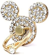 AccessoryHappy Mickey Ears Ring Stand, Rhinestone Crystal Bling Diamond 360° Rotation Cell Phone Stent Holder Grip Kickstand for iPhone 7 7 Plus iPhone 8 8 Plus 6S 6 Galaxy S7 S8 (Clear)