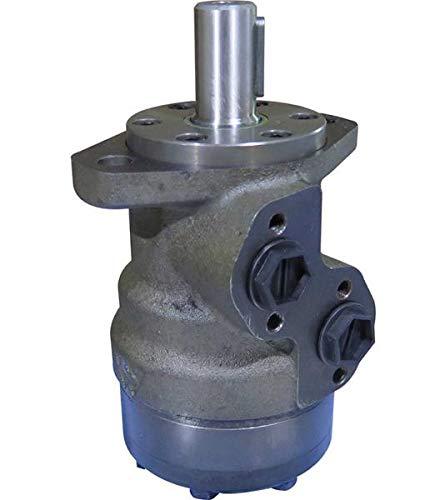 Hydraulikmotor M+S MR_CD, Schluckvolumen wählbar von 50 cm3/U – 400 cm3/U, Anschlüsse (seitlich): G 1/2'', Welle: Ø 25 mm zylindrisch Größe 80 ccm
