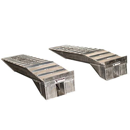 Titan Ramps Heavy Duty Aluminum Semi Truck Riser Ramp 20,000 LB Capacity