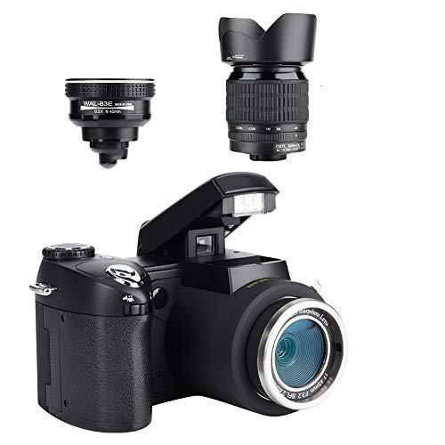 Wakects Videocamera Full HD, Zoom Ottico 24x, 1080P Videocamera Digitale con Obiettivo grandangolo Fotocamera Digitale HD 33MP
