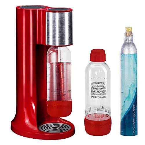 LEVIVO Wassersprudler Set/Trinkwassersprudler Starter Set inkl. 2 Sprudlerflaschen aus Pet und CO2-Zylinder, Klassischer Sodabereiter für Individuelles Zusetzen von Kohlensäure in Leitungswasser