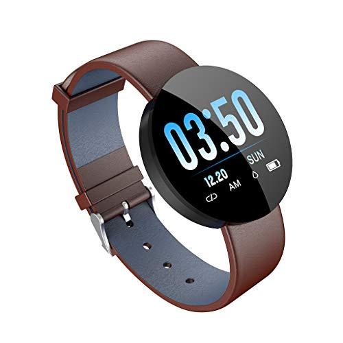 Fitnesstracker, waterdicht, smartwatch armband met bloeddruk, Sanitario-tracker, stappenteller, voor Android en iOS, kleurenscherm 1,3 inch