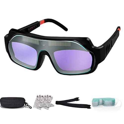 Welding Glasses True Color View -1/1/1/2 Optical Clarity Welding Goggle Protective Mask Solar Automatic Dimming Professional Eye Protection PC Glasses