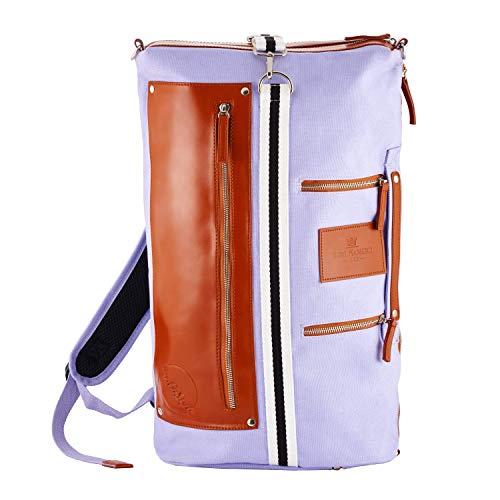 Saint Maniero Rucksack Damen Rucksack Herren Schulrucksack Mädchen Schulrucksack Jungen Laptop Backpack Tagesrucksack Daypack Laptoprucksack Uni Rucksack Uni Tasche Schultaschen (Lila)