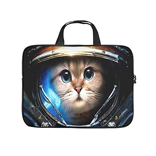 Funda protectora antiestática para portátil, diseño de gato con astronauta