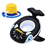 Heiqlay Flotador de natación para bebé Anillo de natación para niños Anillo de natación Inflable, Anillo de natación de Juguete acuático para bebés para niños (tiburón/Pavo Real)