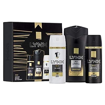 lynx  you trio men's christmas gift set with shower gel, deodorant body spray and anti-perspirant - gift set for him Lynx You Trio Men's Christmas Gift Set with Shower Gel, Deodorant Body Spray and Anti-Perspirant – Gift Set for Him 418HCrQ7KqL