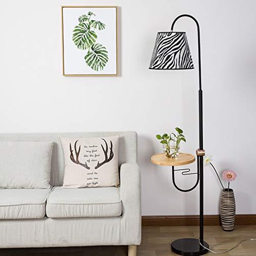 Mjjj20-02-17 - Lámpara de pie para salón, dormitorio, mesita de noche, lámpara de mesa de centro, diseño creativo americano, vertical, color cebra