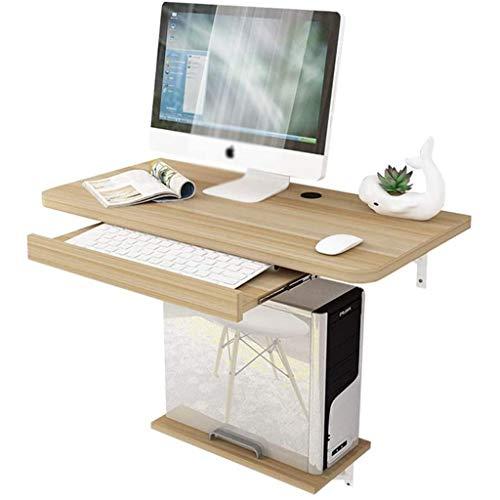 LIN HE SHOP Table dordinateurs de Bureau de Bureau Pliable de Bureau Pliable Mural avec étagères dapprentissage de lapprentissage à lapprentissage des Enfants pour Petits espaces