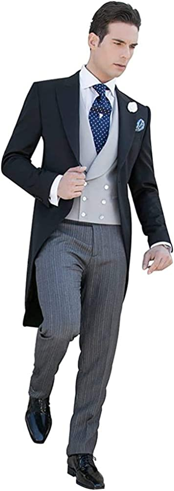 Tux Tailored Suit 2 Pieces Men's Suit Fit Single-Breasted Blazer and Pant for Business Party