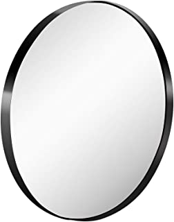Monolith 26 Inch Wall Mirror with Coating Steel Frame Wall Mounted Round Big Mirror Rusty-Free for Home Decorative Living Room Washroom Entryway Hanging