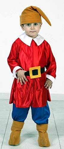 Disfraz de Enanito Rojo Infantil (3-4 años)