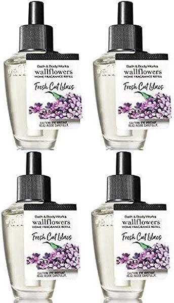 Bath And Body Works 4 Pack Fresh Cut Lilacs Wallflower Fragrance Refill 0 8 Oz