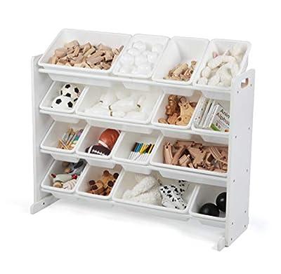 Humble Crew Extra-Large Toy Organizer, 16 Storage Bins, White/White