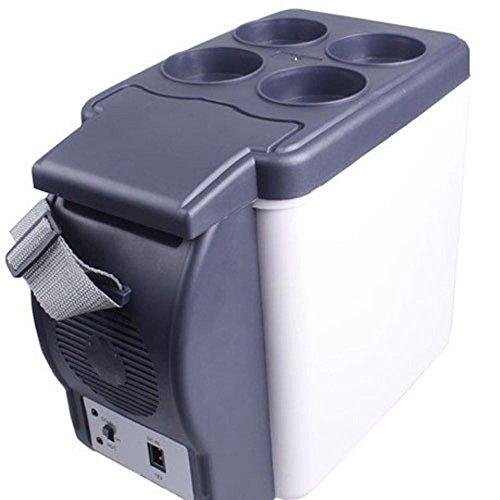 AMYMGLL Réfrigérateur portable portable de 7.5 litres réfrigéré frais et chaud avec une tension de porte-tasse 12V voiture 220V alimentation à domicile 48 (W) poids 2.4kg taille 25 * 30 * 16.5 * cm