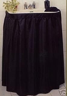 black sink skirt