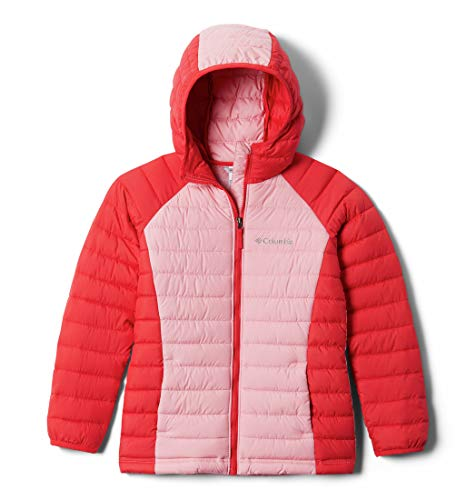 Columbia Powder Lite, Veste Fille, Rouge, Rose (Red Lily, Pink Orchid), Taille XS