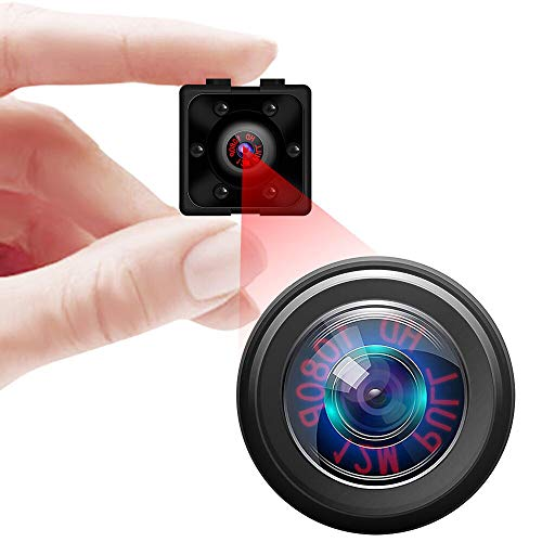 Supoggy Mini Hidden Spy Camera, Full HD 1080P Portátil pequeña videocámara HD con visión Nocturna, grabación de vídeo y detección de Movimiento para casa, Coche, dron, Oficina y Uso Exterior