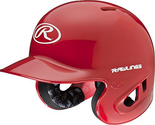 Rawlings 90 MPH College High School Batting Helmet, Scarlet, Small