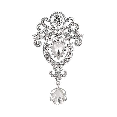 Broche de mujer con diamantes completos corona de diamante completo trofeo cristal señoras abrigo broche joyería niñas regalo accesorios