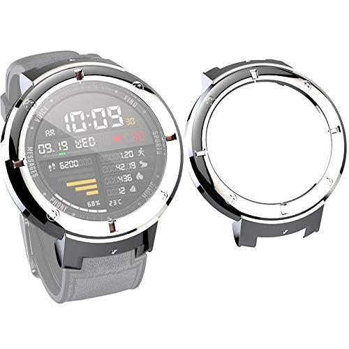 YANTAIAN para Huami Amazfit Verge Caja Protectora de la PC Reloj Inteligente Lite (Color : Silver)
