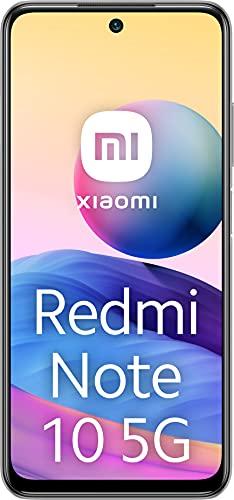 """Xiaomi Redmi Note 10 5G - Smartphone 4+64GB, 6,5"""" 90Hz DotDisplay, MediaTek Dimensity 700 5G, 48MP Triple-Camera, 5000mAh batteria, Chrome Silver (Versione Italia + 2 Anni di Garanzia)"""