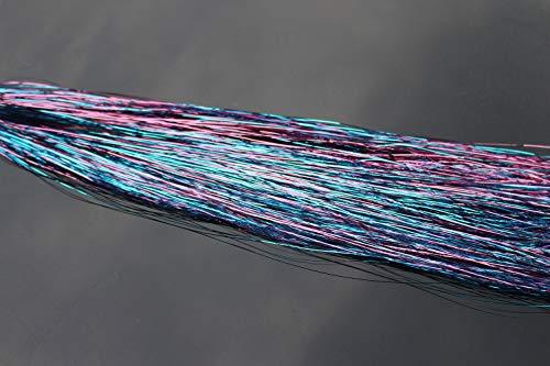 Tigofly Flashabou Lametta-Flash-Flash-Flash-Flash-Flash-Flash-Flash-Material aus Mylar-Kristall, 6 Packungen / 6, Farbe, 5