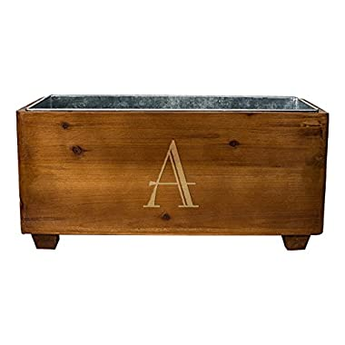 Cathy's Concepts Personalized Wooden Wine Trough, Letter A