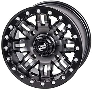 4/137 Teton Beadlock Wheel 15x10 5.0 + 5.0 Gun Metal/Black for Can-Am Maverick X3 Max Turbo 2018-2019