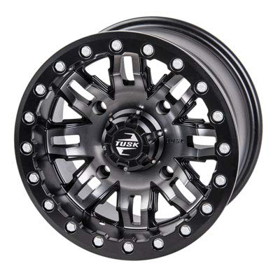 4/115 Teton Beadlock Wheel 14x7 5.0 + 2.0 Gun Metal/Black for Arctic Cat ALTERRA 500 2017