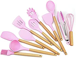GUTING Beech Wood Handle Silicone Kitchen Gadgets, Kitchen Gadgets Cookware Set, Easy-to-Clean Non-Stick Cookware Cookware...
