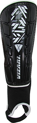 Vizari Malaga Shin Guard, Black/White, M-YOUTH/ADULT