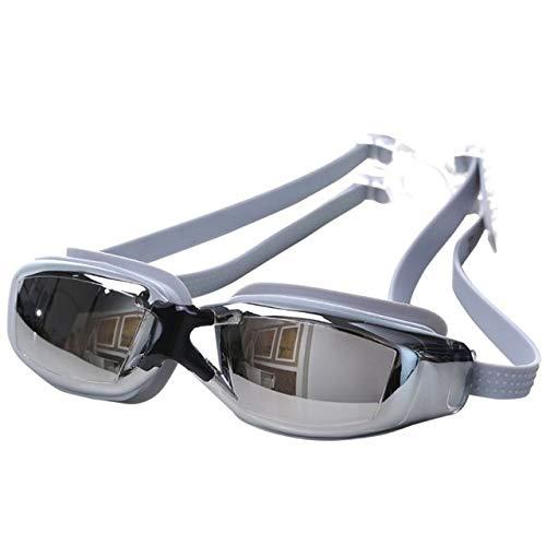 Schwimmbrille, beschlagfrei, verstellbar, UV-Schutz, 2 Stück Gr. 165 cm*45mm, silber